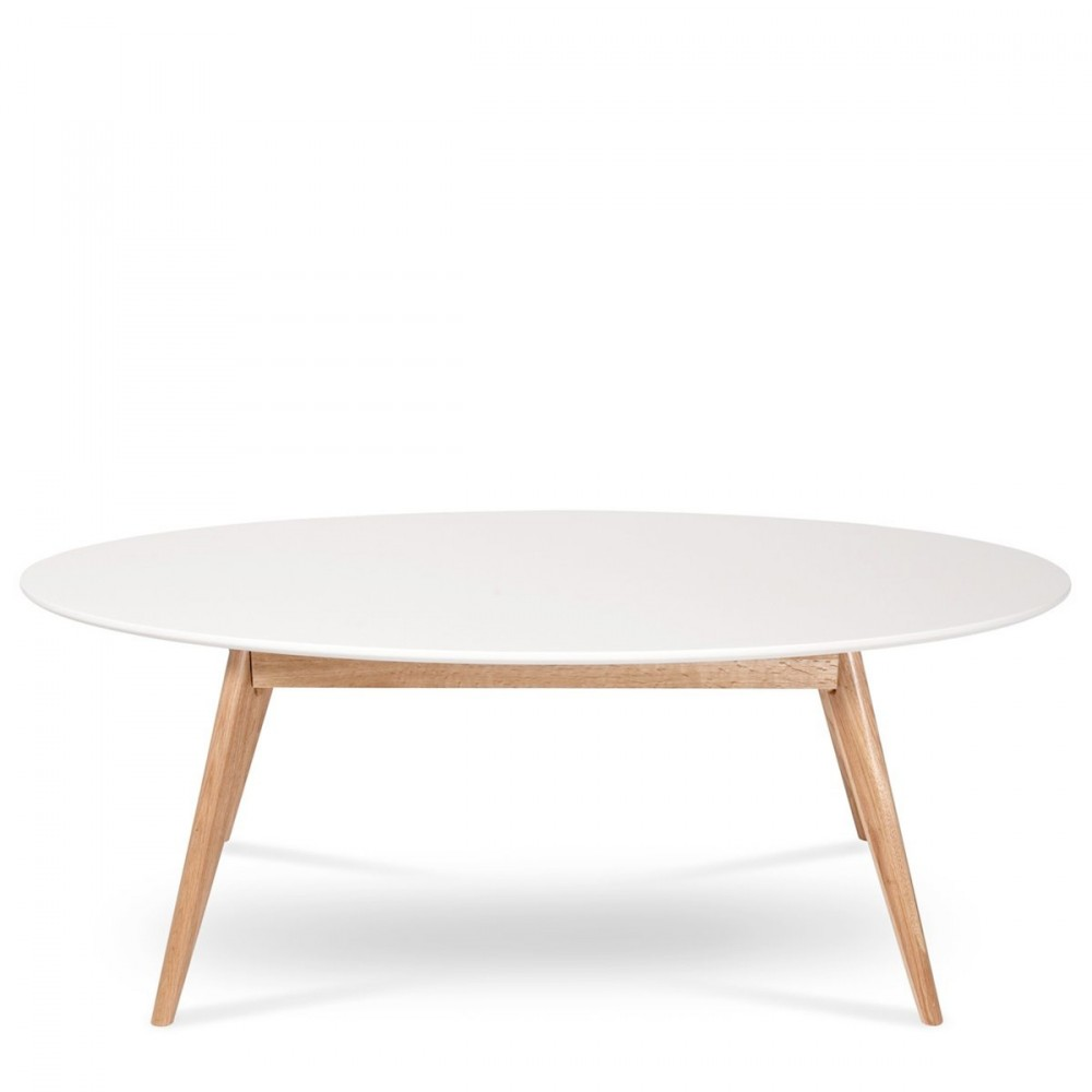 Table Basse Lumineuse Conforama ~ Table Basse Ovale Design Scandinave Skoll Blanche