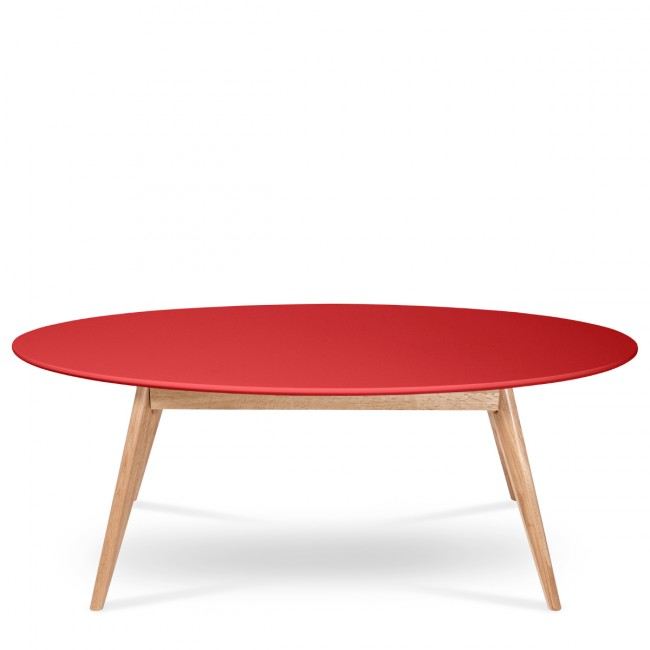 Table basse scandinave ovale skoll by drawer - Table basse rouge pas cher ...