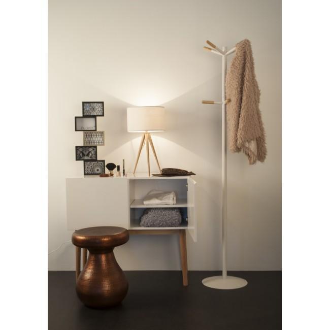 Porte Manteau bois et blanc Wooden Tip ambiance