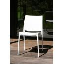 Lot de 2 chaises design Tessa blanche de face