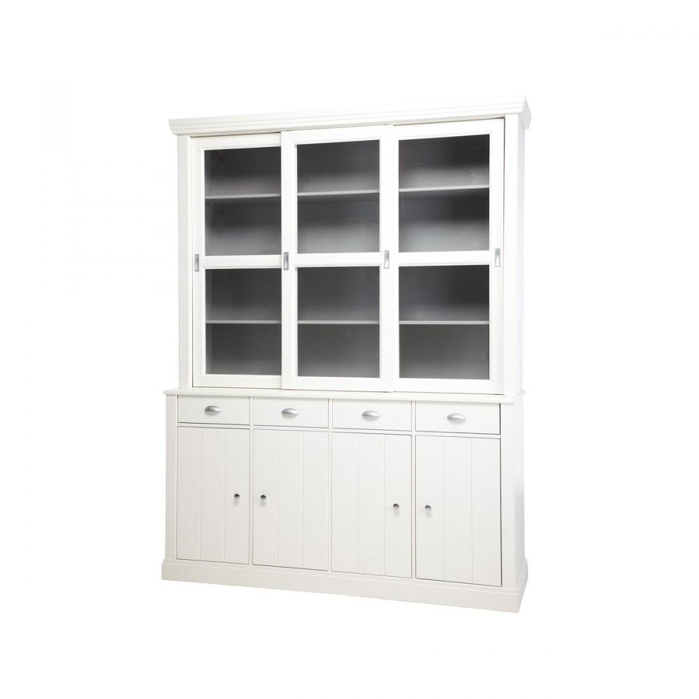 buffet vaisselier blanc en pin jette par drawer. Black Bedroom Furniture Sets. Home Design Ideas