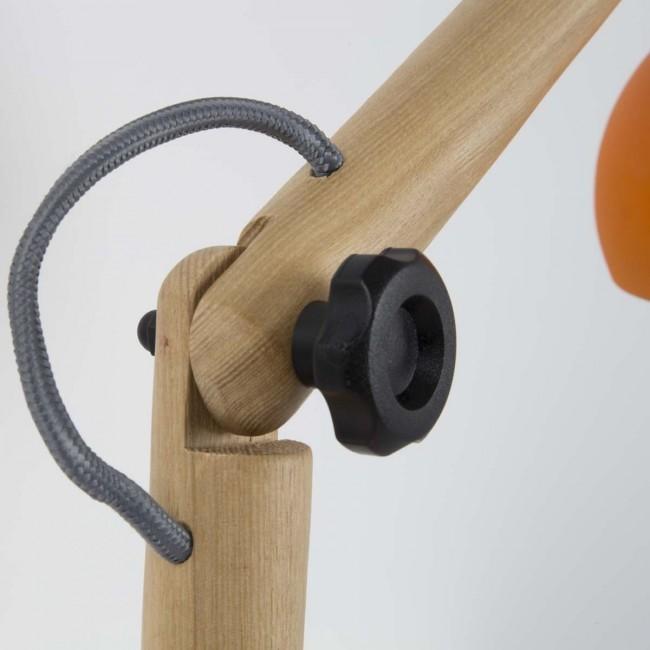 Lampe à poser bois & métal Study orange