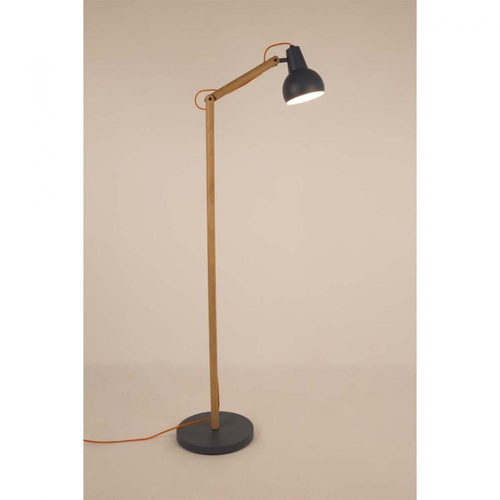 lampadaire design bois m tal study zuiver. Black Bedroom Furniture Sets. Home Design Ideas