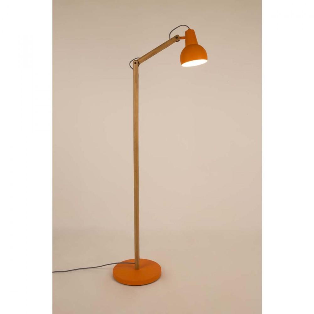 Lampadaire Bois Et Metal : Ce lampadaire design bois et m?tal Study con?u par nos designers