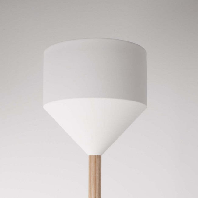 Lampadaire design blanc Torch detail