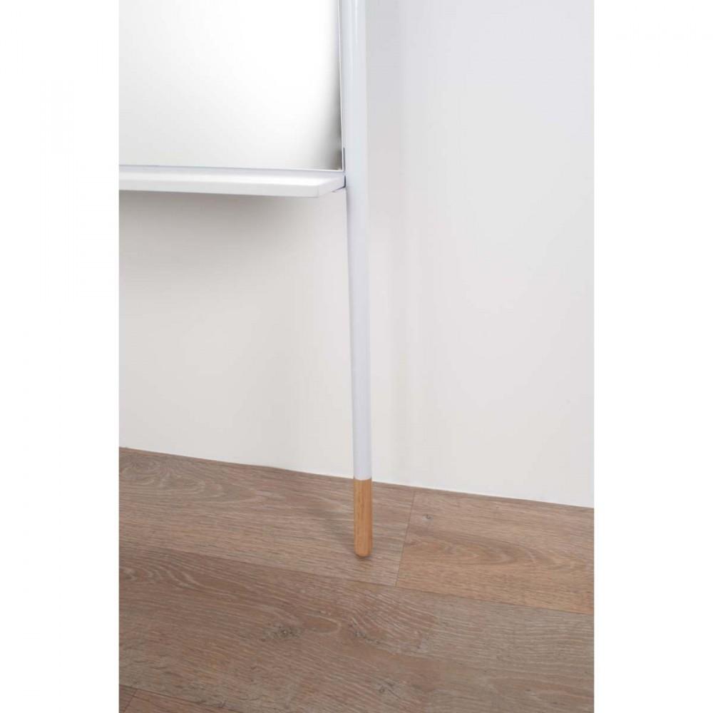 Miroir sur pied blanc ladder zuiver for Miroir psyche
