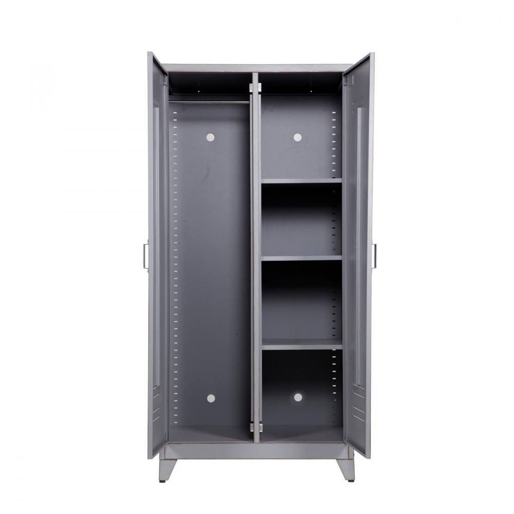 gallery of armoire grise design with armoire 2 portes pas cher