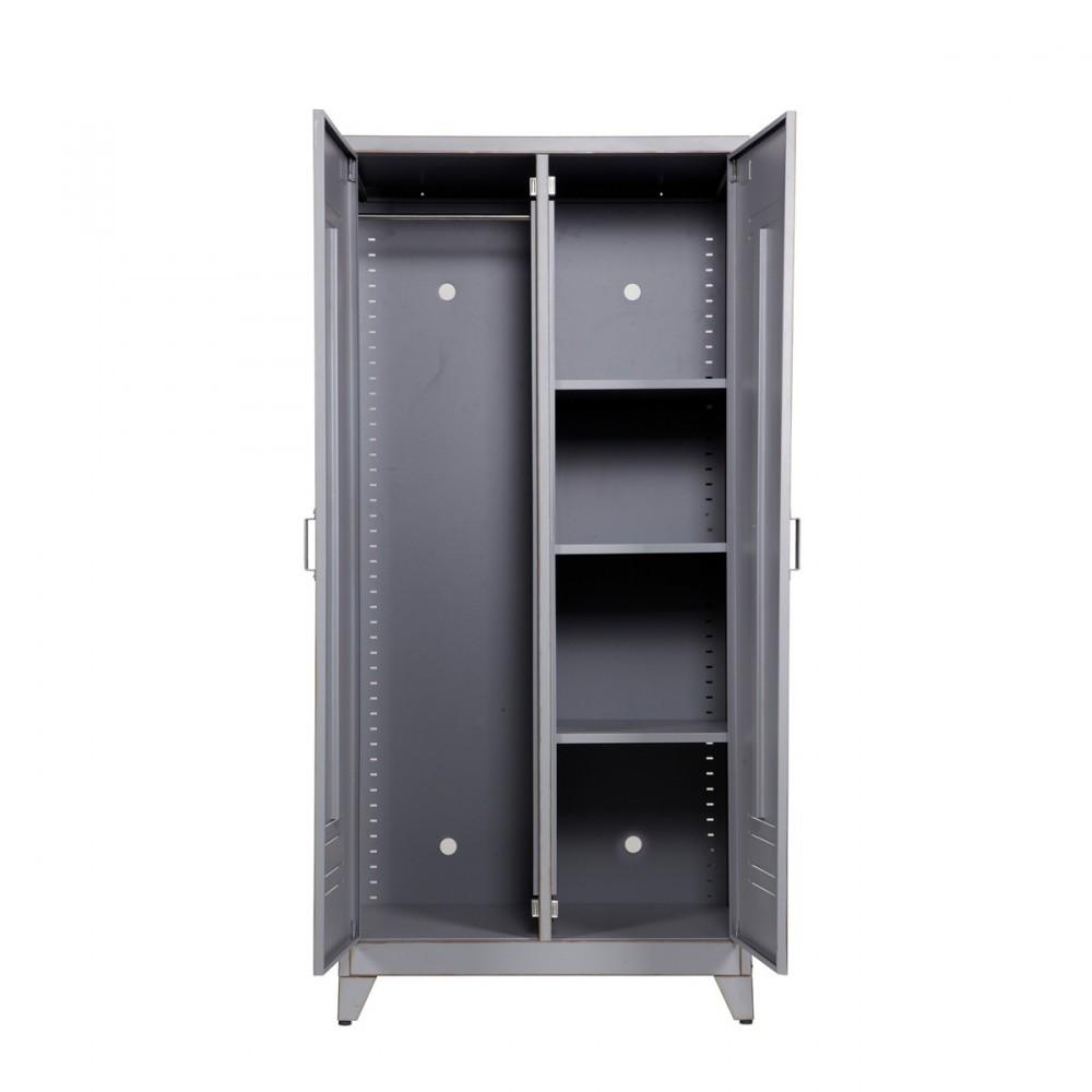 armoire grise 2 portes maxim par. Black Bedroom Furniture Sets. Home Design Ideas