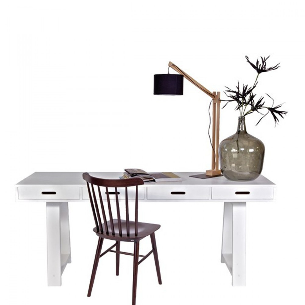 bureau console 4 tiroirs en pin teuna. Black Bedroom Furniture Sets. Home Design Ideas