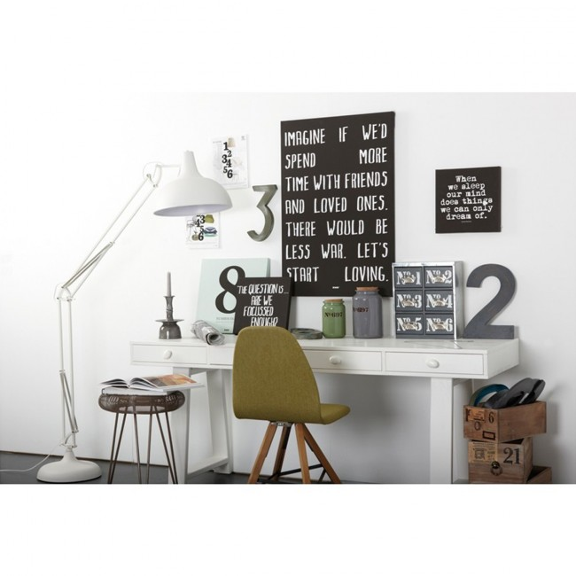 Bureau-Console 4 tiroirs en pin Teuna ambiance