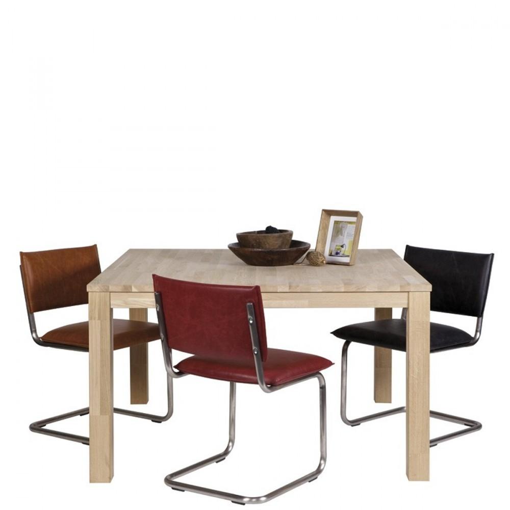 Table manger en ch ne brut dutchwood par drawer for Table a manger soldes