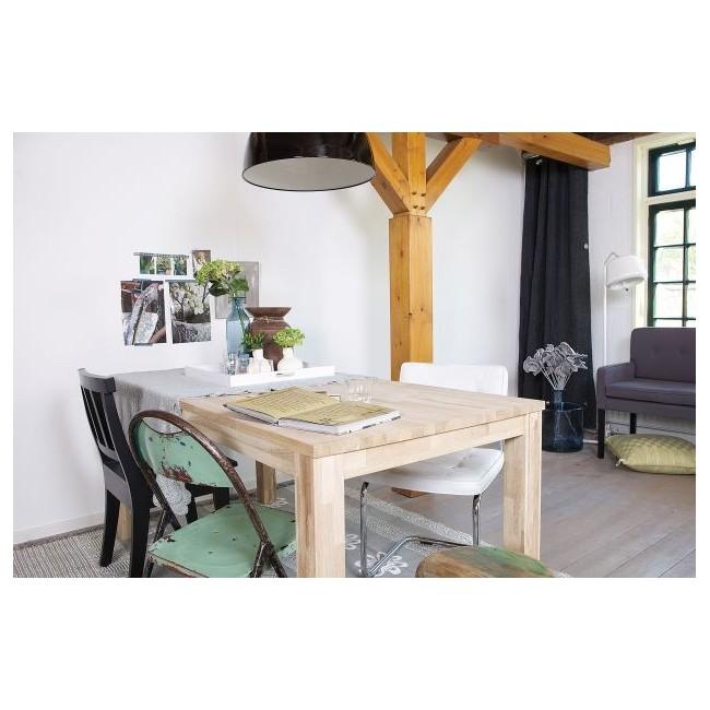 Table à manger en chêne brut Dutchwood ambiance