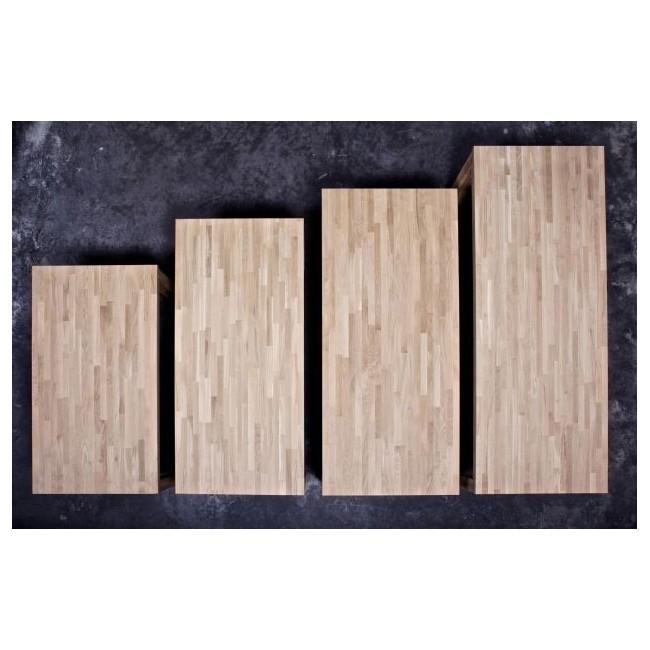Table à manger en chêne brut Dutchwood detail plateau