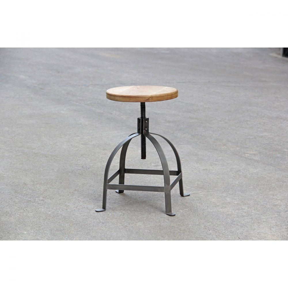 tabouret de bar industriel vis henri ford by drawer. Black Bedroom Furniture Sets. Home Design Ideas