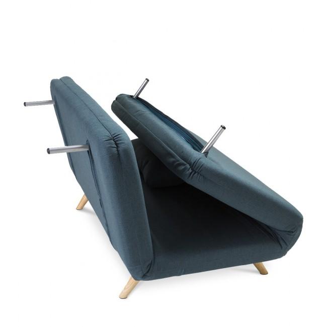 Canapé convertible scandinave 2 places John bleu pétrole