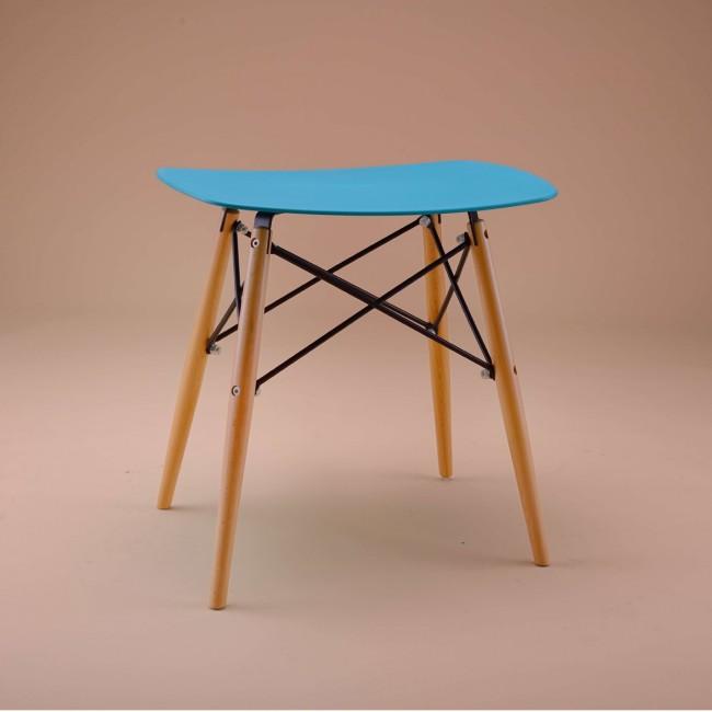 Tabouret design Skoll turquoise