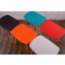 Tabouret design Skoll noir turquoise rouge orange blanc