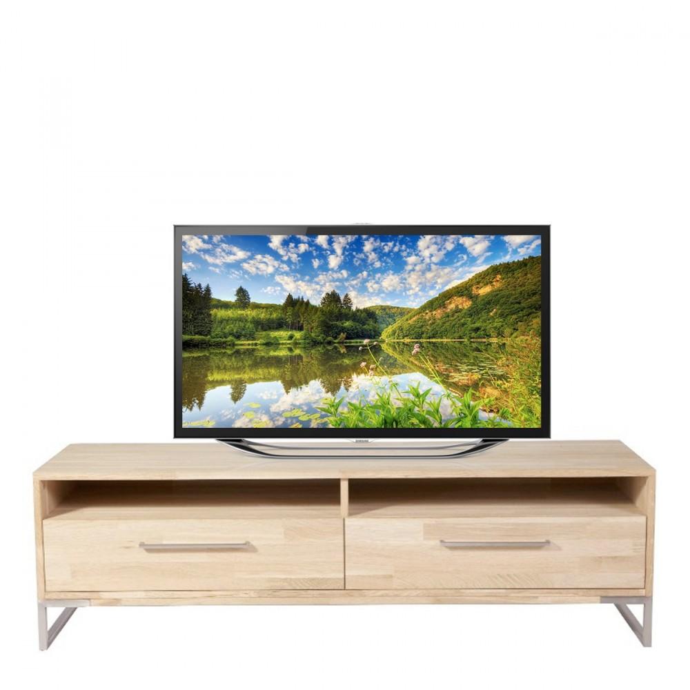 meuble tv 2 tiroirs en ch ne theunis. Black Bedroom Furniture Sets. Home Design Ideas