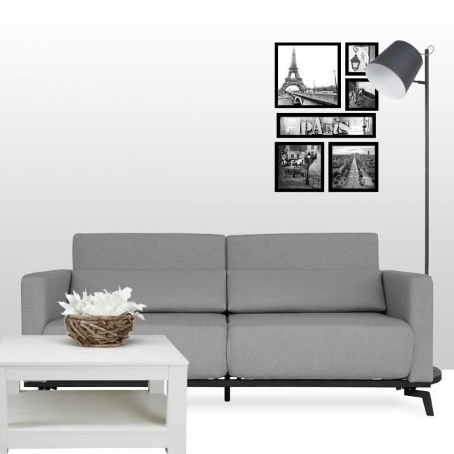 Canapé convertible design Harvey gris photo ambiance