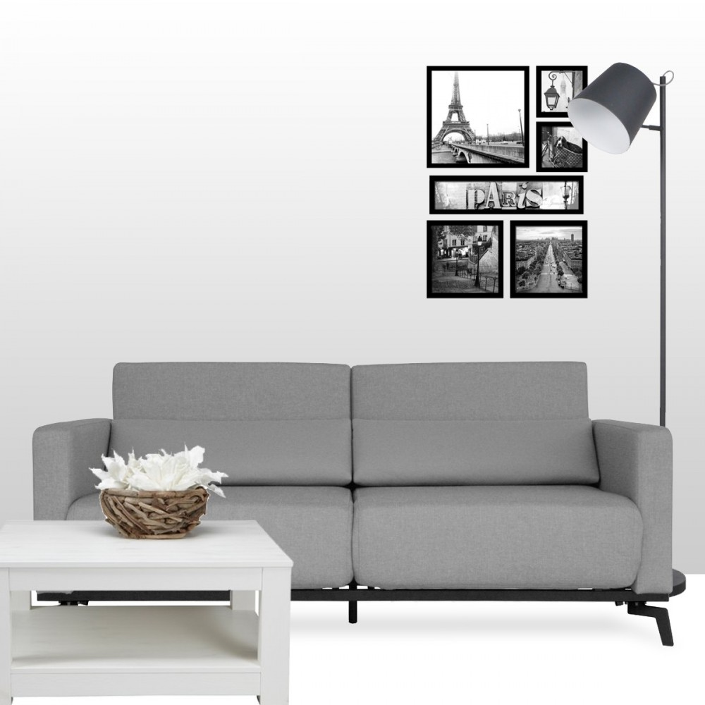 canap scandinave convertible harvey gris drawer. Black Bedroom Furniture Sets. Home Design Ideas