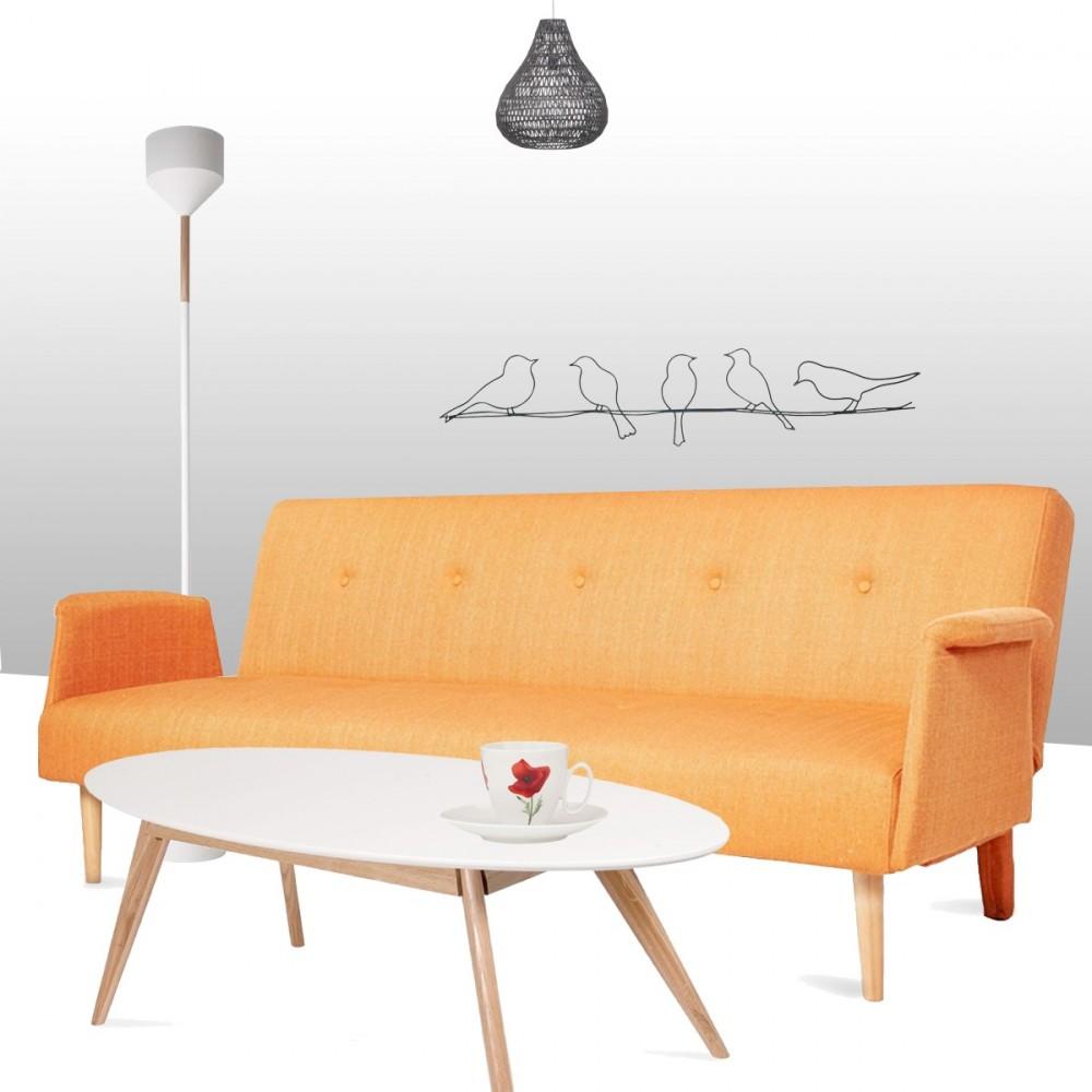 canap convertible scandinave bj rn orange drawer. Black Bedroom Furniture Sets. Home Design Ideas