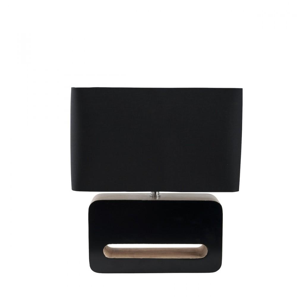 lampe poser design bois et tissu wood par. Black Bedroom Furniture Sets. Home Design Ideas
