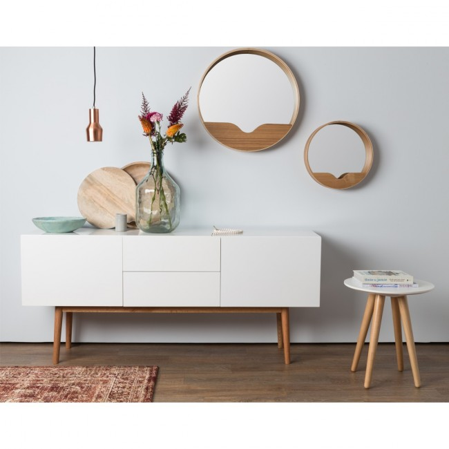 Buffet design 2 portes 2 tiroirs High Wood blanc