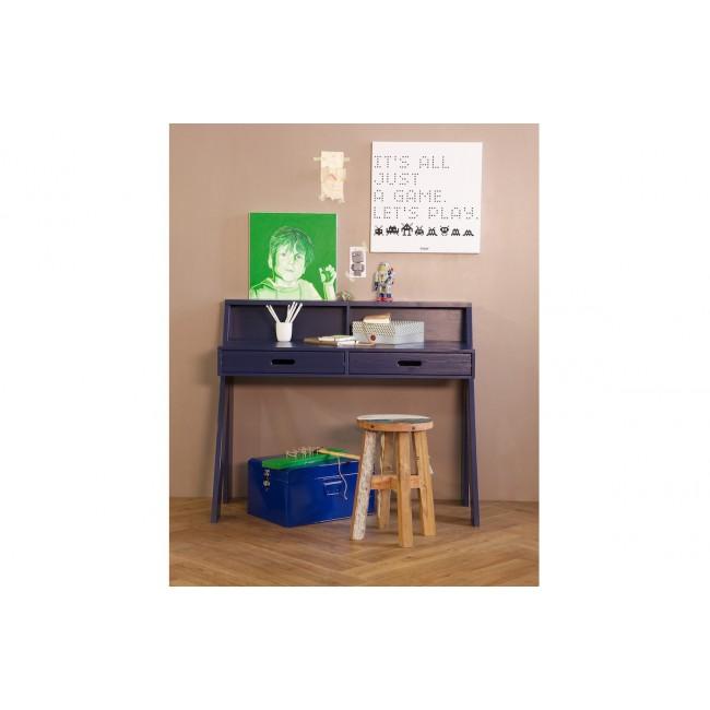 Bureau en bois bleu indigo Ewout ambiance