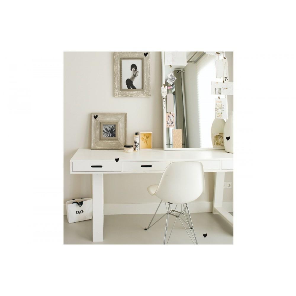 bureau console 4 tiroirs en pin teuna. Black Bedroom Furniture Sets. Home Design Ideas