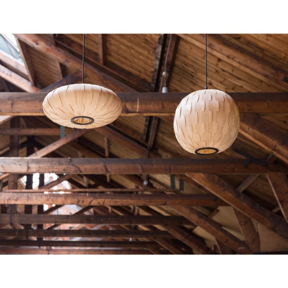 Suspension bois bond round par for Suspension en bois design