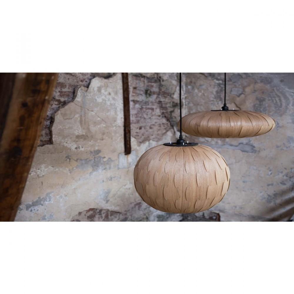 suspension bois bond round par. Black Bedroom Furniture Sets. Home Design Ideas