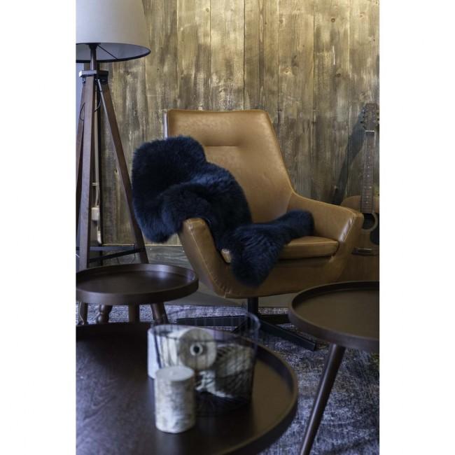 Fauteuil pivotant lounge Don marron de Dutchbone
