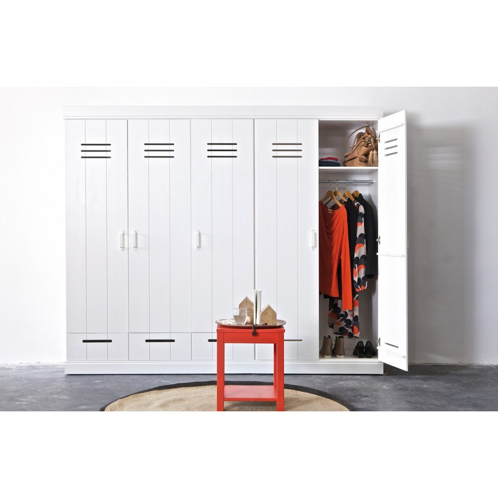 armoire connect 2 portes 2 tiroirs style industriel. Black Bedroom Furniture Sets. Home Design Ideas