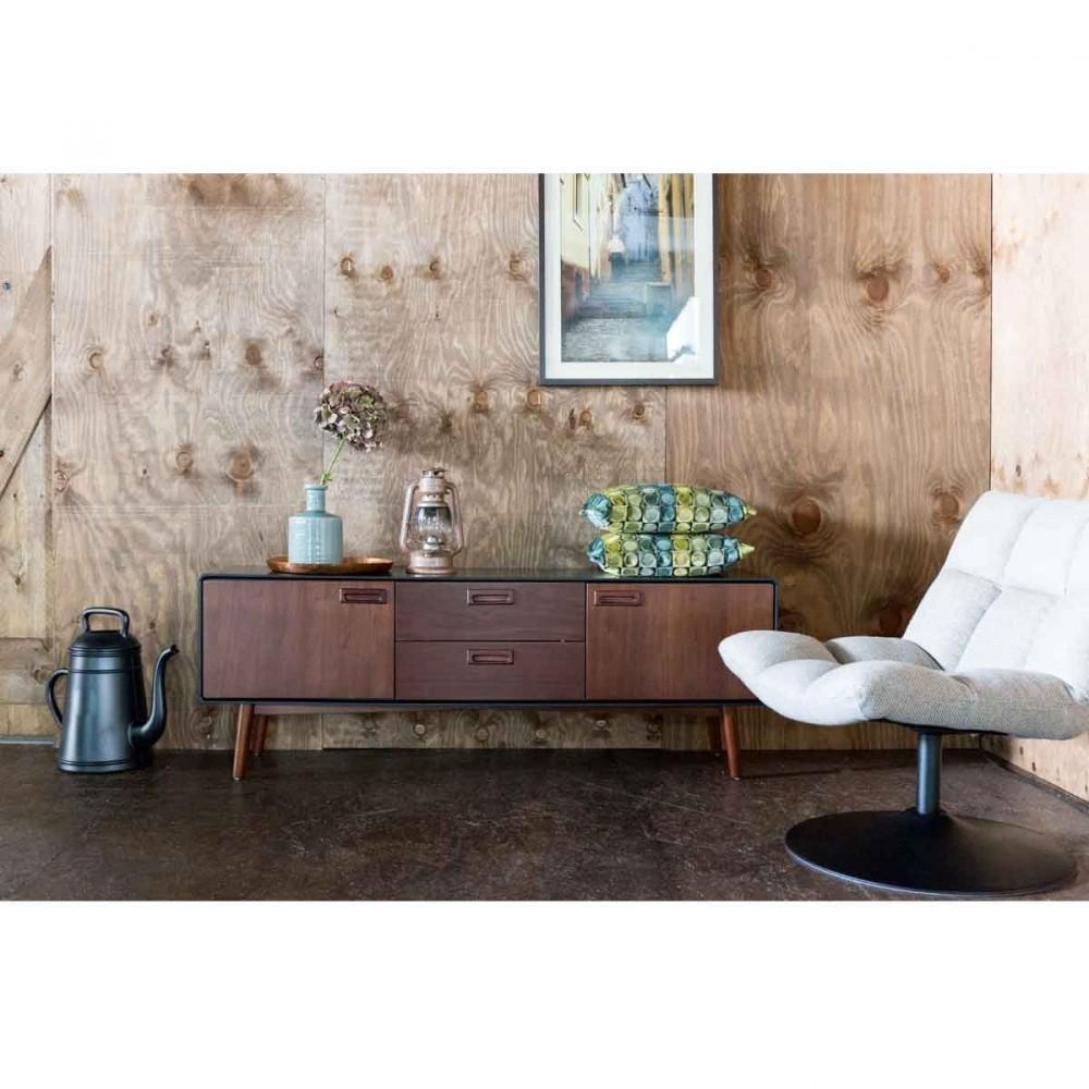 buffet noyer 2 portes 2 tiroirs juju par. Black Bedroom Furniture Sets. Home Design Ideas