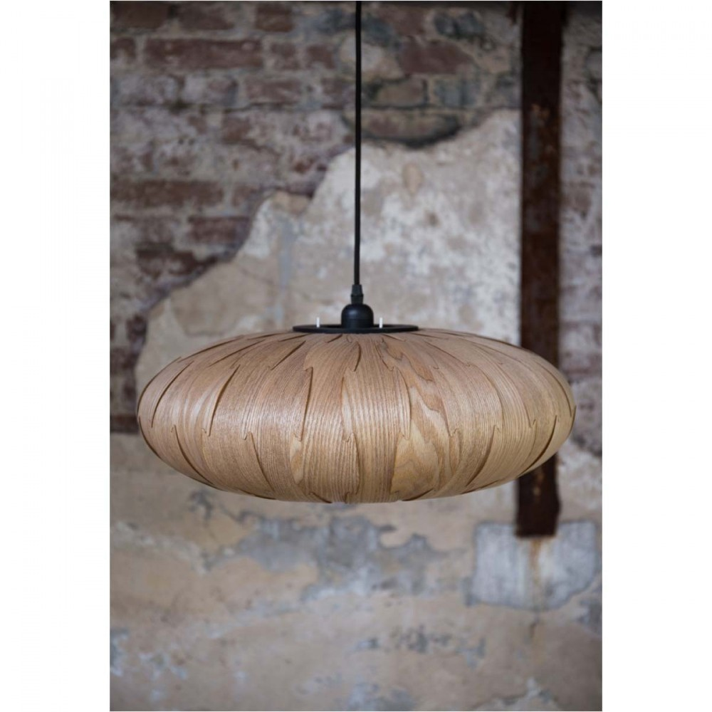 Suspension bois bond oval par for Suspension bois