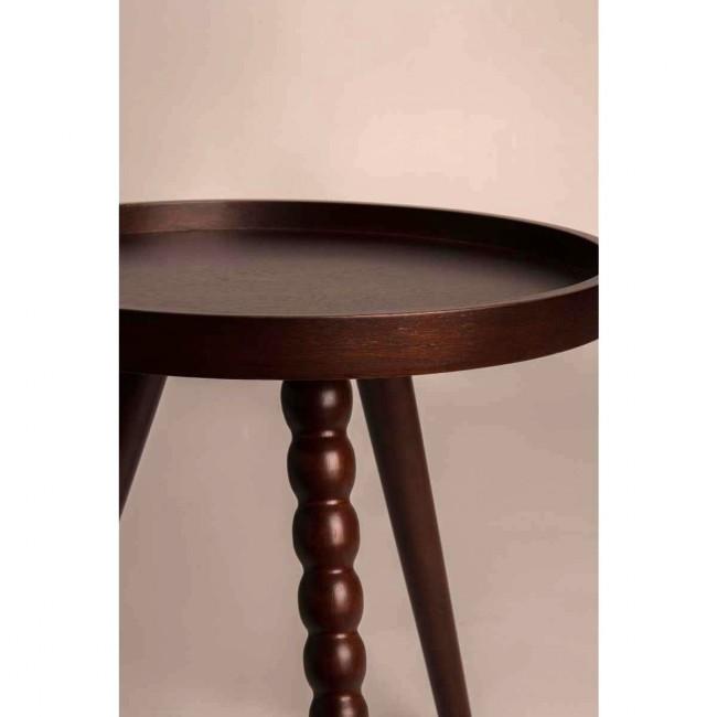 Table basse ronde en bois noyer Arabica Dutchbone