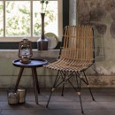 Chaise lounge métal et rotin Kubu ambiance