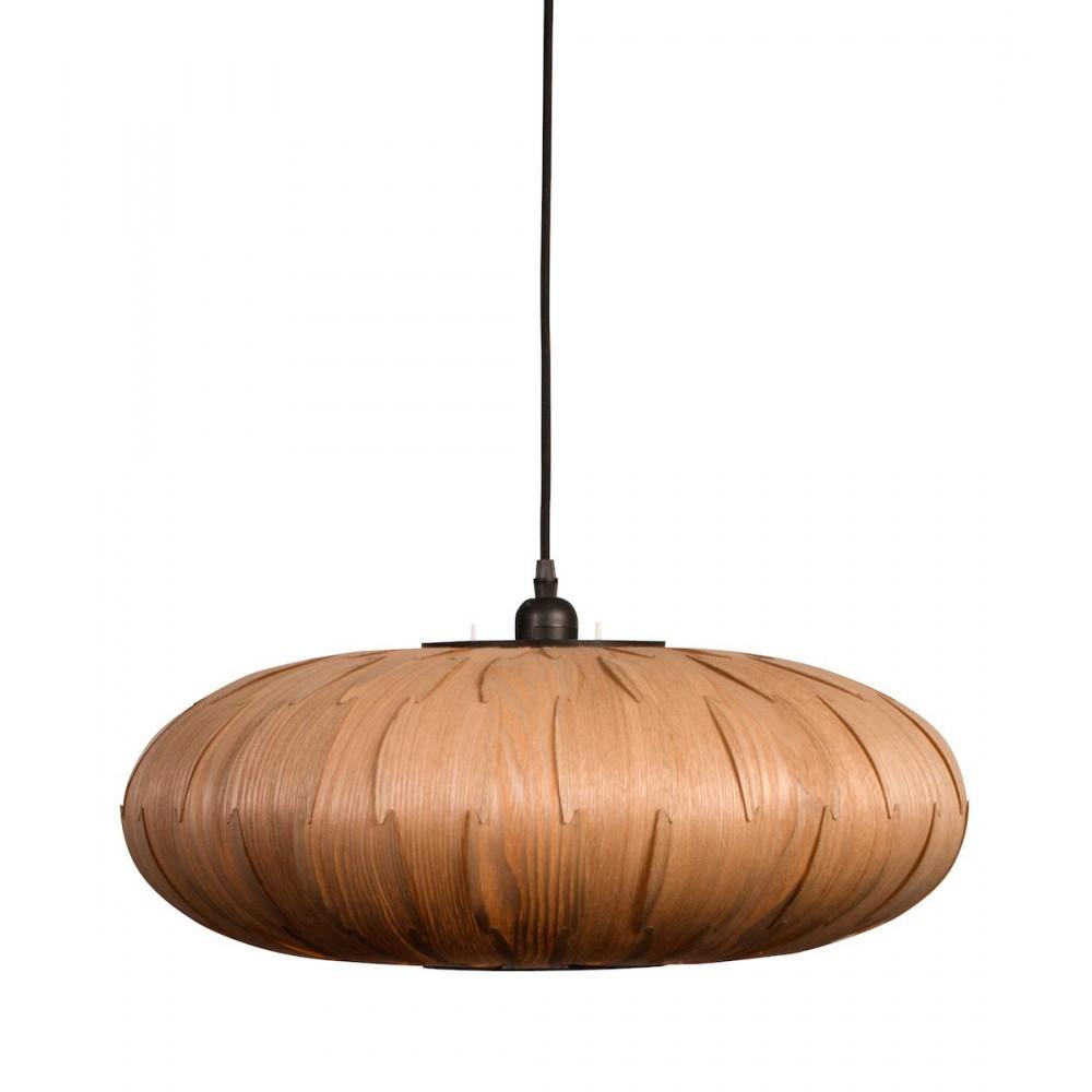 Suspension bois bond oval par for Suspension sejour design