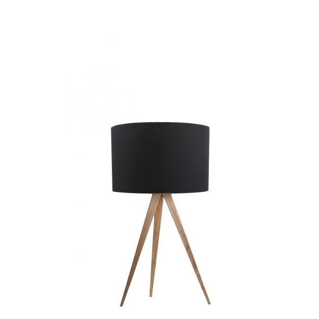 Lampe à poser Tripod Wood Mini noire