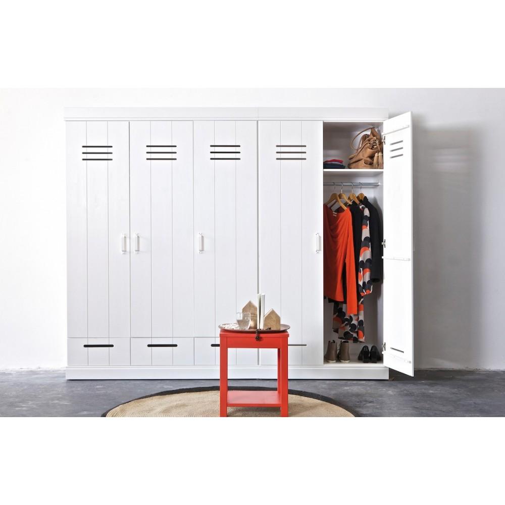 armoire connect 2 portes look vestiaire industriel. Black Bedroom Furniture Sets. Home Design Ideas