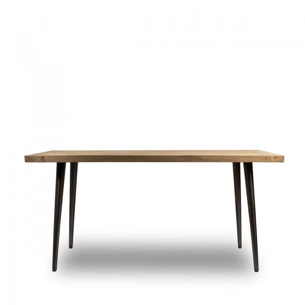 Table bois teck recycl for Table a manger en teck