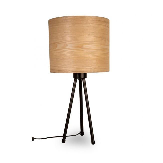 Lampe à poser tripod bois métal Woodland