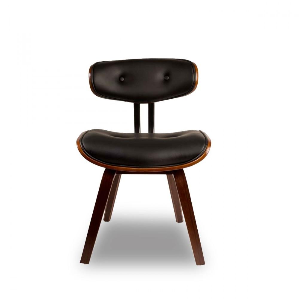 Chaise lounge en bois blackwood par drawer for Chaise bois noir