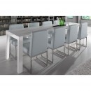 Table extensible laque blanche Newport ambiance