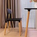Lot de 2 chaises design Glamwood noires ambiance