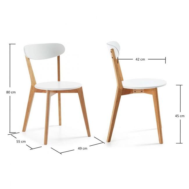 chaises design scandinave Vitak bois et blanc