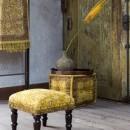 Pouf vintage Indian Block ambiance