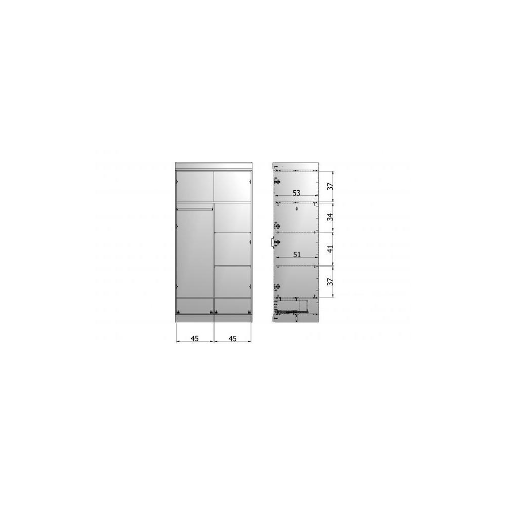module de rangement avec tiroirs pour armoires connect