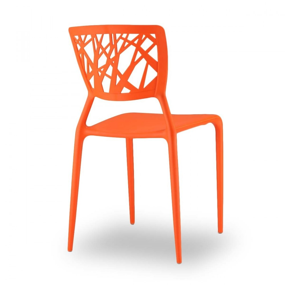 Chaises orange pour jardin candice x2 par drawer for Les chaises design