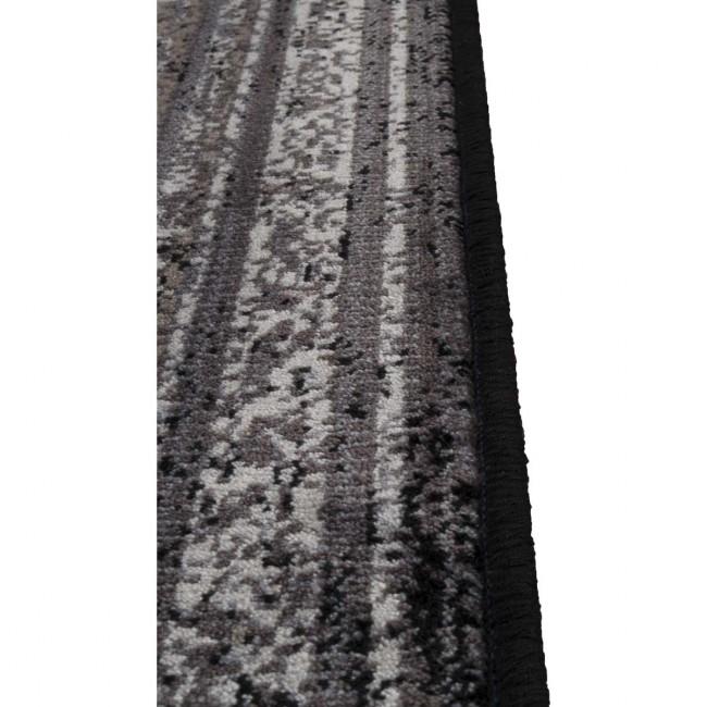 Tapis vintage Rugged gris detail bord